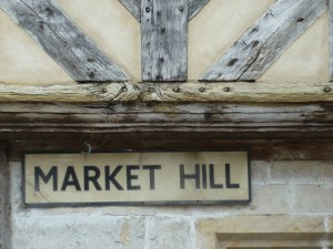 Market Hill sign on The Manor House